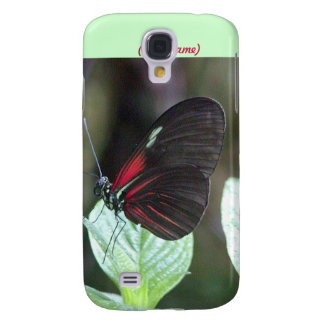 Red and Black Butterfly iPhone 3 Case