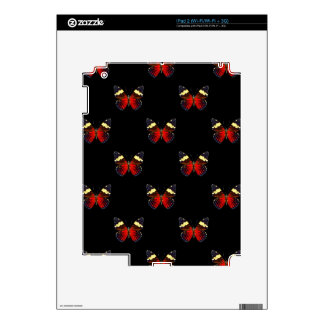 Red and black butterfly pattern skins for iPad 2