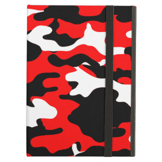 Red and Black Camo iPad Air Cases
