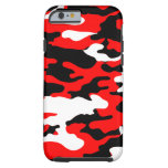 Red and Black Camo iPhone 6 Case