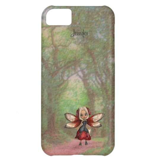 Red and Black Cartoon Fairy iPhone 5 Case