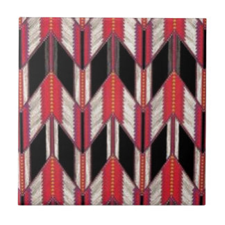 Red and Black Ceramic Tile
