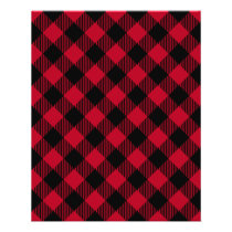 Red And Black Check Buffalo Plaid Pattern Flyer