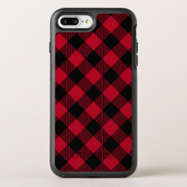 Red And Black Check Buffalo Plaid Pattern OtterBox Symmetry iPhone 8 Plus/7 Plus Case