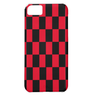 Red and Black Checker iPhone Case Case For iPhone 5C