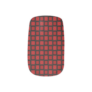 Red and Black Checkerboard Plaid Minx® Nail Wraps
