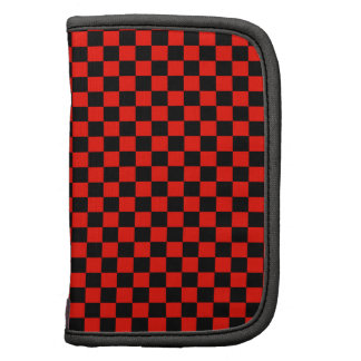 Red and Black Checkered Pattern Folio Planner