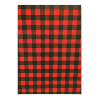 Red And Black Chequered Pattern Invitations