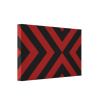 Red and Black Chevrons Canvas Print