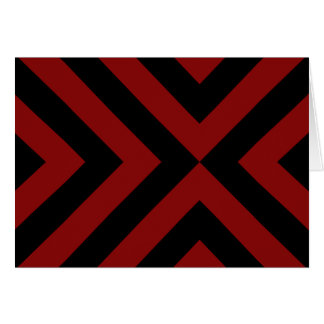 Red and Black Chevrons Card