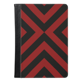 Red and Black Chevrons Geometric Pattern