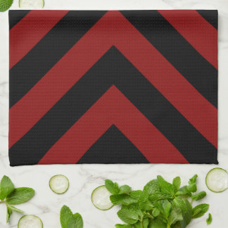 Red and Black Chevrons Towels