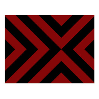 Red and Black Chevrons Postcard