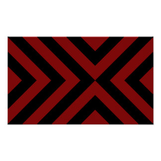 Red and Black Chevrons Poster