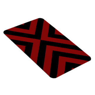 Red and Black Chevrons Rectangular Photo Magnet