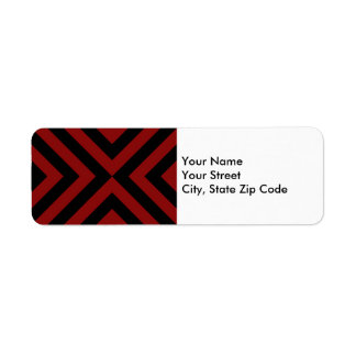 Red and Black Chevrons return address label