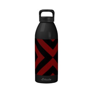 Red and Black Chevrons Reusable Water Bottles