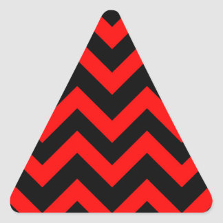 Red And Black Chevrons Triangle Sticker