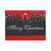 Red and Black Christmas Doormat