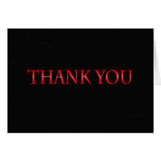 Red and Black Class 2014 Thank You Card