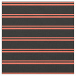 [ Thumbnail: Red and Black Colored Pattern Fabric ]