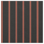 [ Thumbnail: Red and Black Colored Striped Pattern Fabric ]