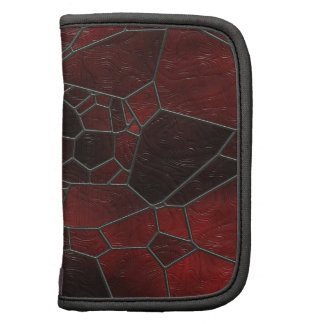 Red and Black Colored Swirly Mosaic  Art Organizers