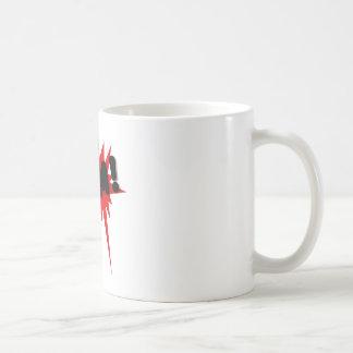 Red and black comics text and burst design BAM! Coffee Mug