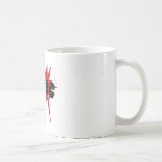 Red and black comics text and burst design BANG Coffee Mug