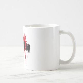 Red and black comics text and burst design WHAM Coffee Mug
