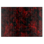 Red and Black Coral Fractal Flame Cutting Board
