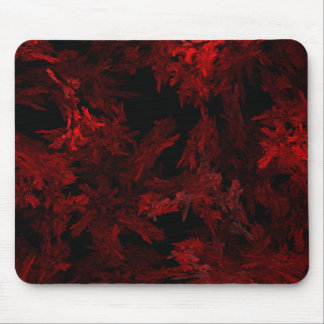 Red and Black Coral Fractal Flame Mouse Pad