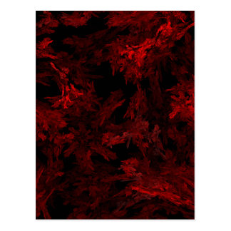 Red and Black Coral Fractal Flame Postcard