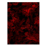 Red and Black Coral Fractal Flame Postcards