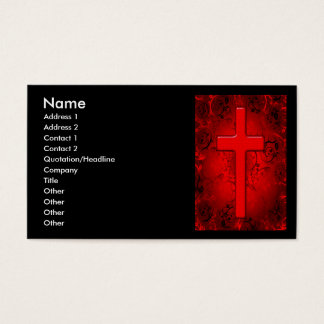 RED AND BLACK CROSS BUSINESS CARDS