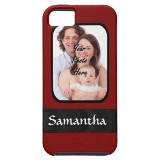 Red and black custom photo iPhone 5 cases
