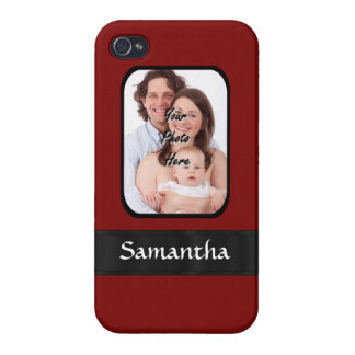 Red and black custom photo iPhone 4/4S covers