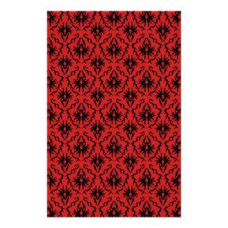 Red and Black Damask Design. Flyer