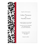 Red and Black Damask Wedding Invitations