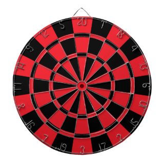 Red And Black Dartboard