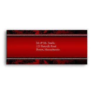 Red and Black Diamonds  Envelope