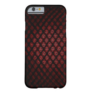 Red and black Dimond Barely There iPhone 6 Case