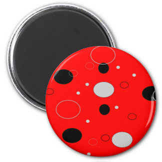 Red and Black Dots Magnet