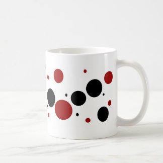 Red and Black dottie cup Mugs