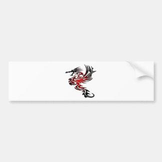 Red and Black Dragon Bumper Sticker
