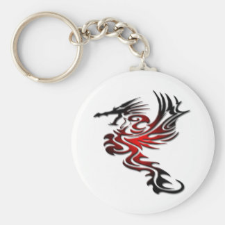 Red and Black Dragon Keychain