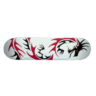 red and black dragon skateboard deck