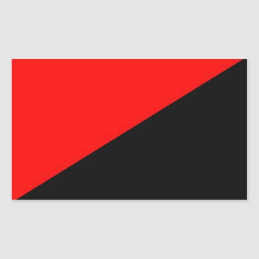 red and black flag logo xx rectangular sticker