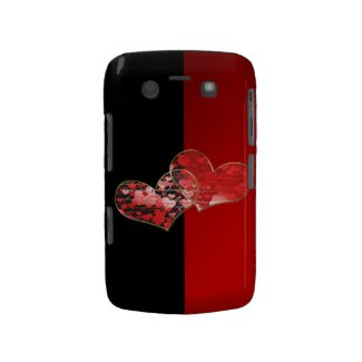 Red and black flag of love blackberry bold cover