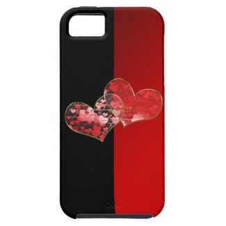 Red and black flag of love iPhone 5 cases